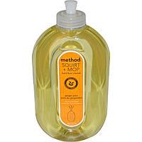 Method, Squirt + MOP, Сбрызни и протри, средство для очистки полов, имбирный юдзу, 25 жидких унций (739 мл)