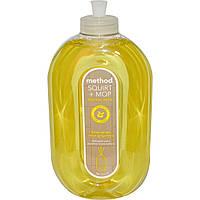 Method, Squirt + MOP, Сбрызни и протри, средство для очистки твердых поверхностей, лимонный имбирь, 25 жидких унций (739 мл)