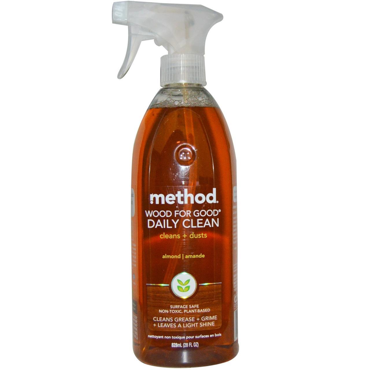 Method, Ежедневное очищающее средство для деревянных предметов Wood For Good, с миндалем, 28 жидких унций (828 мл)