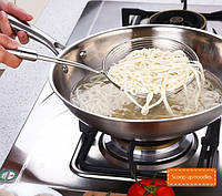 Шумовка кухонная из нержавеющей стали, фото 1