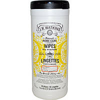 J R Watkins, Универсальные салфетки, с запахом лимона, 35 салфеток, 7 x 8 дюймов (17,8 x 20,3 см) каждая