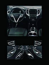 Накладки для салона полный комплект C673 (ХРОМ) - Hyundai Santa Fe / ix45 (AUTO CLOVER), фото 2