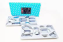Накладки для салона полный комплект C673 (ХРОМ) - Hyundai Santa Fe / ix45 (AUTO CLOVER), фото 3