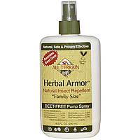 All Terrain, Herbal Armor, Натуральное средство от насекомых, без ДЭТА, спрей, 8,0 жидких унций (240 мл)