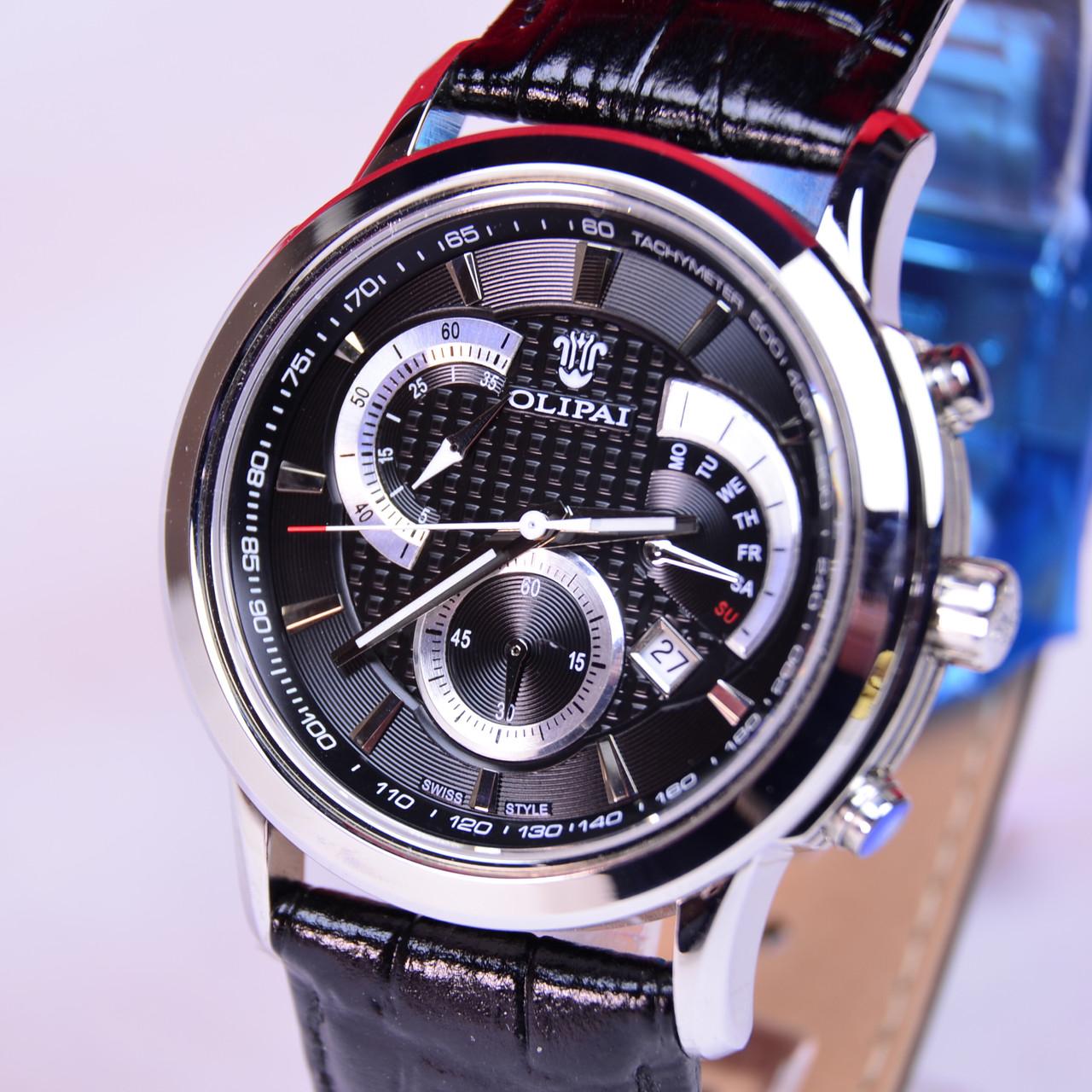 Мужские наручные часы OLIPAI JT6018 black сапфир,тахиметр
