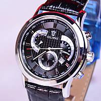 Мужские наручные часы OLIPAI JT6018 black сапфир,тахиметр, фото 1