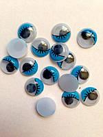 Глазки для игрушек круглые голубые 12 мм (10шт.)