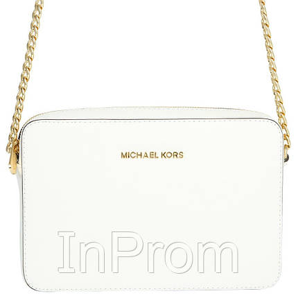 Сумка Michael Kors Jet Set Travel White, фото 2