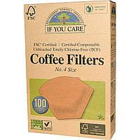 If You Care, Фильтры для кофе, № 4 размер 100 фильтров