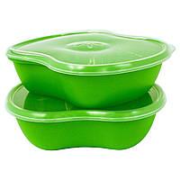Preserve, Набор для хранения продуктов питания, квадратный, зеленый, 2 шт. в упаковке, 25 унций (740 мл)