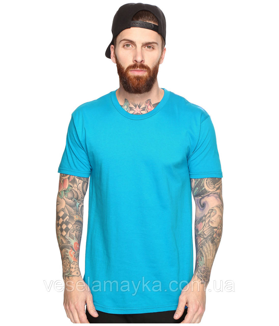Бірюзова чоловіча футболка (Комфорт)