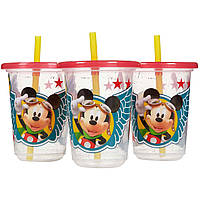 The First Years, Disney Mickey Mouse, Take & Toss Straw Cups, 3 Pack - 10 oz (296 ml)