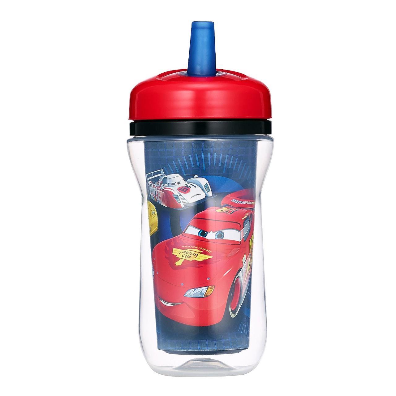 The First Years, Дисней Пиксар, Машины, изотермический стаканчик с соломинкой, 18+ месяцев, 9 унций(270 мл) - Интернет-магазин для здоровой жизни в Киеве