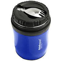 Think, Thinksport, ГОУ4Т, герметичный контейнер для пищи, синий, 12 унций (350 мл)