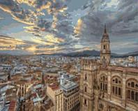 """Картина-раскраска """"Рассвет над Барселоной""""  40 х 50 см"""
