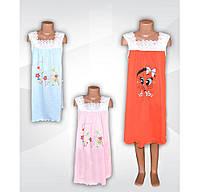 Ночная рубашка для девочки Алина с кружевом и принтом, хлопок, р.р.26-36