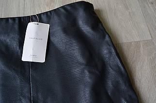Новая кожаная юбка Zara, фото 2