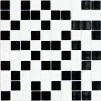 Мозаика облицовочная черно-белая