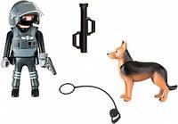 """Игровой набор """"Полицейский спецназовец с собакой"""" Playmobil (5369)"""