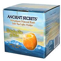 Ancient Secrets, Lotus Brand Inc., Подсвечник из гималайской природной каменной соли, маленький, 1 держатель
