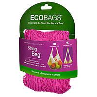 ECOBAGS, Коллекция для рынка, авоська, длинная ручка 22 дюйма, фуксия, 1 сумка