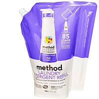 Method, Расходный запас средства для стирки, лаванда и кедр, 85 загрузок, 34 жидких унции (1020 мл)