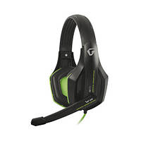 Навушники накладні з мікрофоном Gemix W-330 Black Green