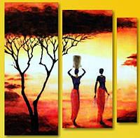 "Картина модульная ""Африка 1""  (790 х 800 мм) [3 модуля]"