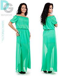 Платье шифоновое в пол 20/м244