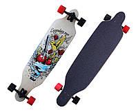 Лонгборд/скейт Longboard В, разн. графити