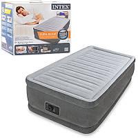 Велюровая надувная кровать Intex 64412 с встроенным насосом 220В