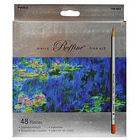 Цветные карандаши Marco 48 цветов Raffine