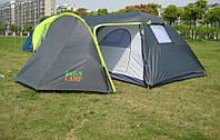Палатка GreenCamp двухcлойная на 4 человек с тамбуром