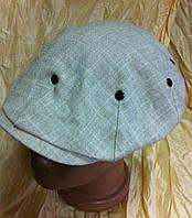Светлая кепка лён мужская реглан