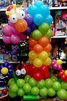 Цифра 1 из воздушных шаров с жучками