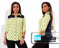 Рубашка с принтом жолтая
