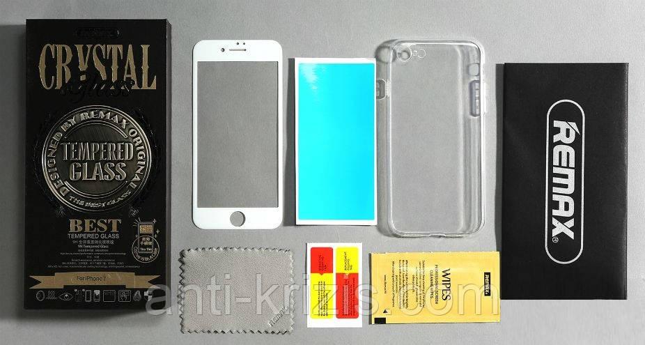 Red Mi 3 Xiaomi REMAX защитное стекло+чехол Crystal set glass+tpu case