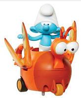 Игрушка инерционная Smurfs Смурфик Растяпа на Стрекозе (30873/30872)