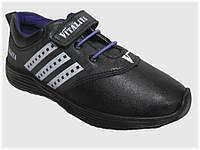 Детские кроссовки чёрные для девочки VITALIYA, размеры 28-36