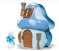 Домик-гриб Smurfs Mushroom House Brainy Smurf с фигуркой Умника (96572/96570)