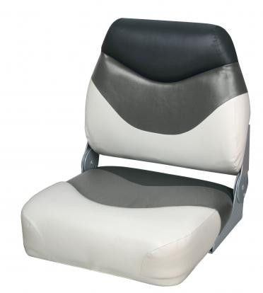 Сиденье для катера, лодки, яхты Premium Folding Seat серо-черно-белое