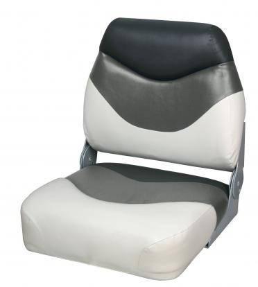 Сиденье для катера, лодки, яхты Premium Folding Seat серо-черно-белое, фото 2