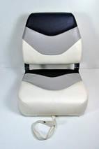 Сиденье для катера, лодки, яхты Premium Folding Seat серо-черно-белое, фото 3