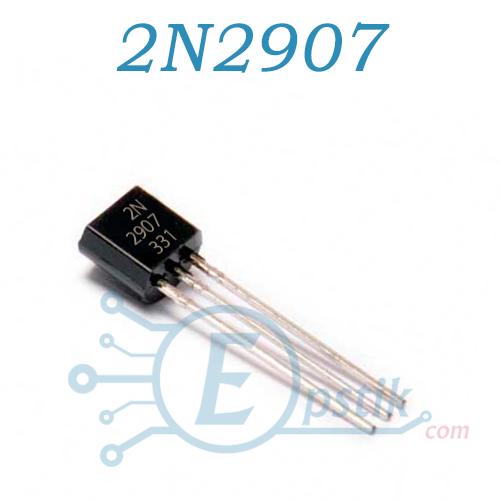 2N2907, транзистор биполярный PNP, 60В, 0.6А, TO92