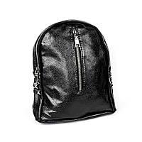 Городской рюкзак черного цвета на молнии