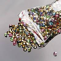 Стразы камушки цветные d-4мм уп\14гр(+-)