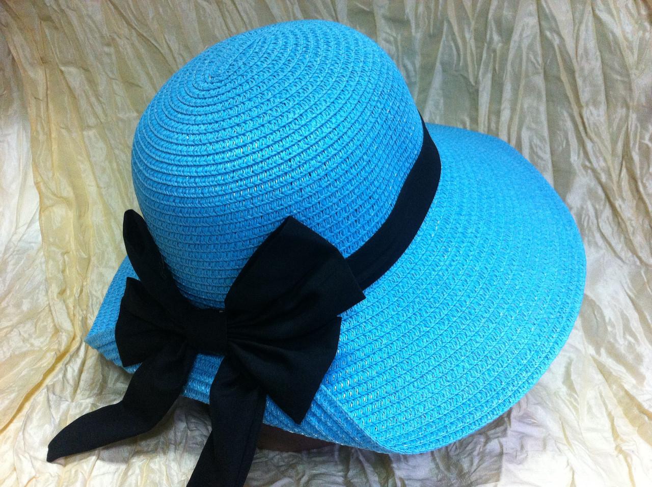 Женская шляпа для лета цвет бирюзовый