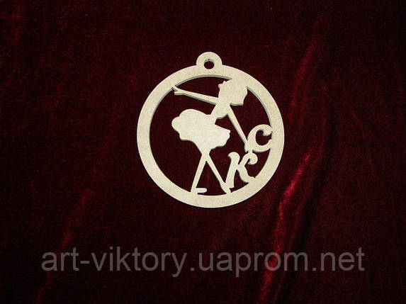 Подвес с логотипом выставки (12 см), декор, фото 2
