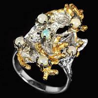 Эксклюзивное серебряное кольцо с благородными опалами
