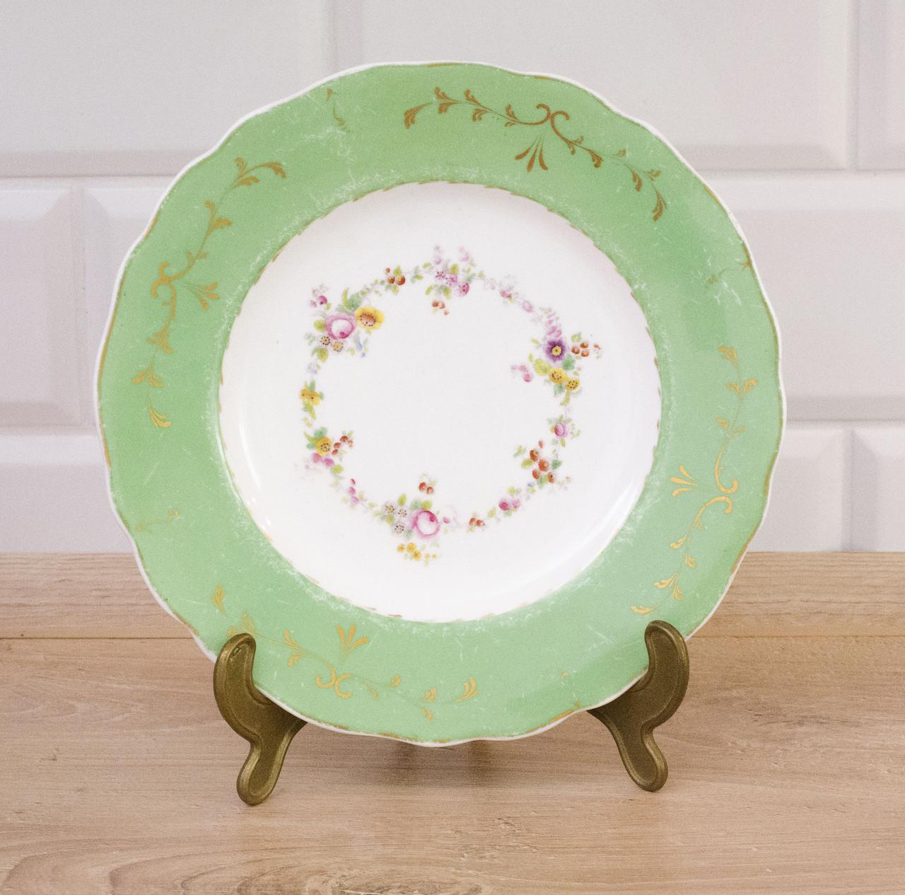 Старое фарфоровое блюдо, фарфор, Англия, фарфоровая тарелка
